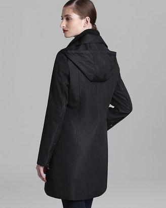 Marc New York Rain Coat - Faux Leather Trim