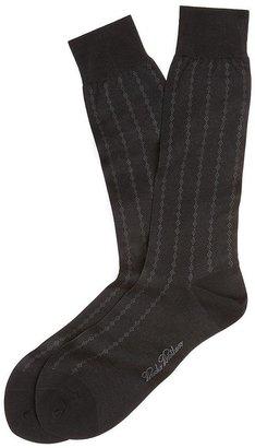 Brooks Brothers Dotted Diamond Crew Socks