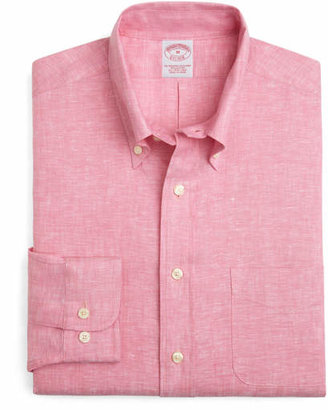 Brooks Brothers Irish Linen Regular Fit Solid Sport Shirt