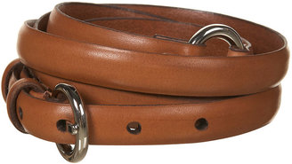 Topshop Camel Double Wrap Skinny Leather Belt