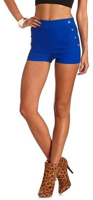 Charlotte Russe High Waist Millennium Button Shorts