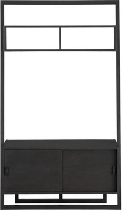 "Sloane Grey 43.75"" Leaning Media Stand with 2 Bookcases"