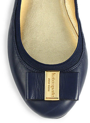 Kate Spade Tock Leather Ballet Flats