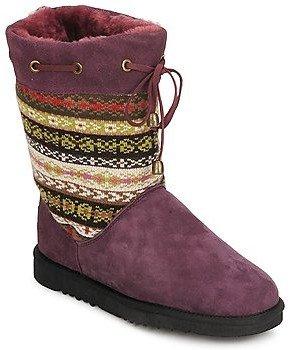 Love From Australia NAVAJO women's Low Ankle Boots in Purple