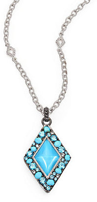 Judith Ripka Multi Gemstone Pendant Necklace
