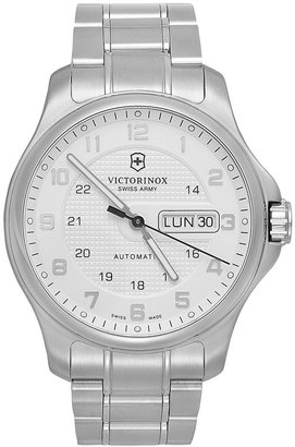 Victorinox Swiss Army Watch, Men's Automatic Officer's Stainless Steel Bracelet 40mm 241548