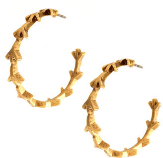 Low Luv x Erin Wasson Peace Cage Hoop Earrings