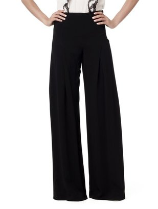 Oscar de la Renta Side Zip Full Leg Pant