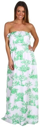 Lilly Pulitzer Darleena Maxi Dress (Resort White Spring Fever Toile) - Apparel