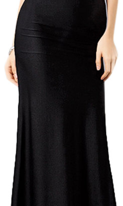 Romwe Hollow V-neck Black Halter Dinner Dress