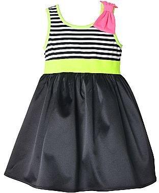 JCPenney Pinky Neon Striped Dress - Girls 2t-5t