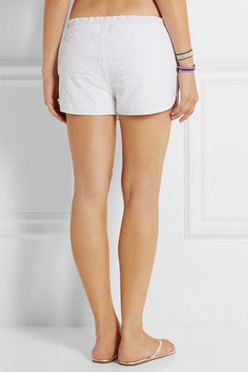 Tory Burch Encintas broderie anglaise cotton shorts