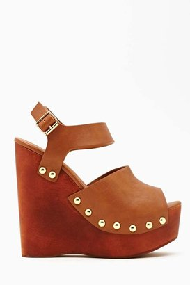 Nasty Gal Shoe Cult Summer Behavior Wedge - Tan
