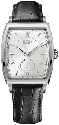 HUGO BOSS Watch, Men's Black Calfskin Leather Strap 34mm 1512844
