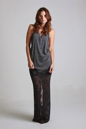 Nightcap Clothing Lace Maxi Skirt in Ash