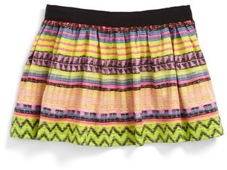 Milly Minis Raffia' Gathered Skirt (Toddler Girls, Little Girls & Big Girls)