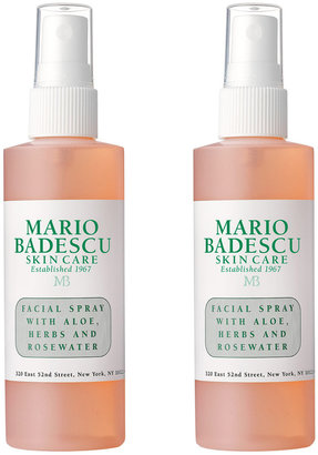 Mario Badescu Facial Spray with Aloe, Herbs and Rosewater, 2 Pack For Dull/Tired Skin