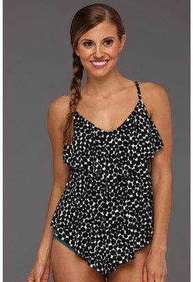 Magicsuit Pebble Dot Rita Tankini Top (Black/White) - Apparel