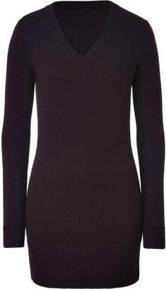 Jil Sander Cashmere Sweater Dress in Deep Violet