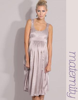 Mama Licious Mama.Licious Embellished Empire Detail Woven Dress