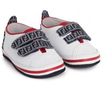 Fendi Velcro Contrast Booties