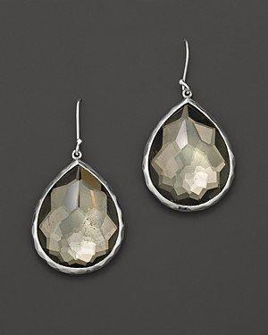 Ippolita Sterling Silver Wonderland Teardrop Earrings in Pyrite