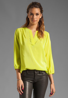 Amanda Uprichard Silk Highliner Blouse