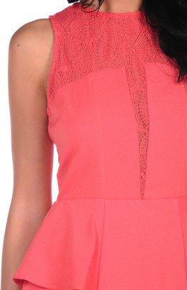 Sugar Lips Peplum Lace Dress