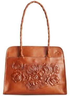 Patricia Nash Paris Tool Rose Leather Shoulder Bag