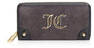 Juicy Couture Overgrown Velour Zip Wallet