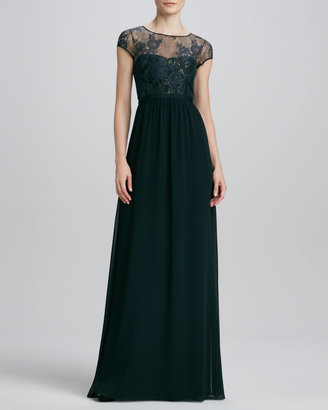 Erin Fetherston ERIN Lace Illusion Bust Gown