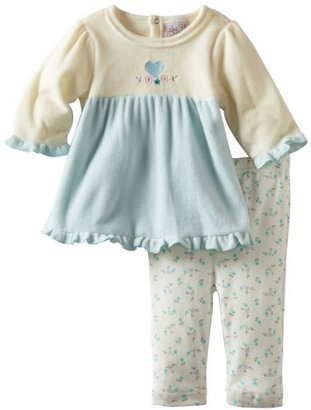 Rene Rofe Baby-girls Newborn Heart and Rosette Fleece Set