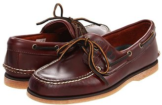 Timberland Classic 2-Eye Boat Shoe (Classic Rootbeer Smooth Leather) Men's Slip on Shoes