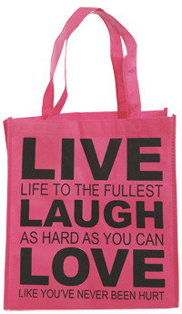 Wet Seal WetSeal Live Laugh Love Tote Pink