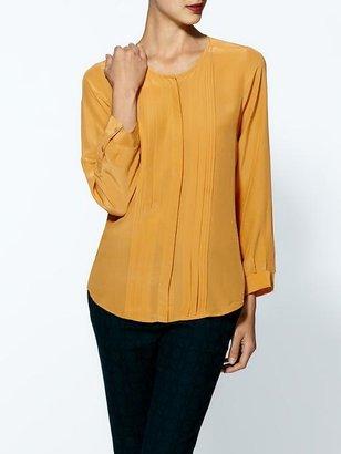 Joie Mellea Pleat Silk Top