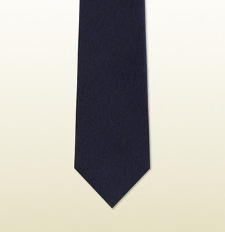 Gucci GG pattern tie with signature web