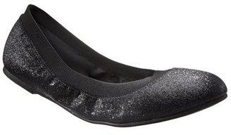 Xhilaration Women's Shea Glitter Ballet Flat Shoes - Black