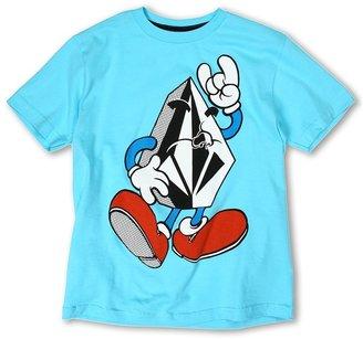 Volcom Mr. Stone S/S Tee (Big Kids) (Blue Drift) - Apparel