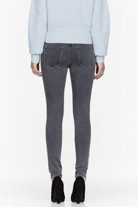 FRAME DENIM Grey Le Luxe Skinny de Jeanne Jeans