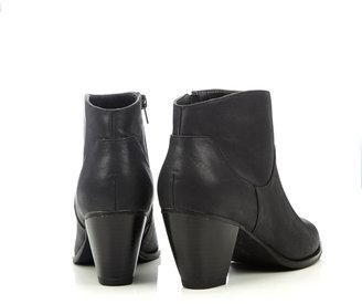 Wallis Black Western Ankle Boot