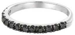 Lord & Taylor Black Diamond Ring in 14 Kt. White Gold