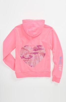Camo Butter Supersoft 'Camo Heart' Hoodie (Big Girls)
