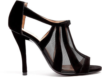 Robert Clergerie Querryf Mesh Cut-out High Heel Shoes
