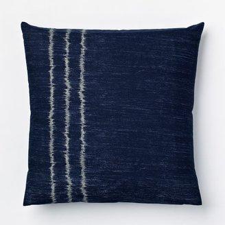 west elm Organic Indigo Ikat Stripe Shams