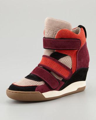 Ash Bea Double-Strap Wedge Sneaker