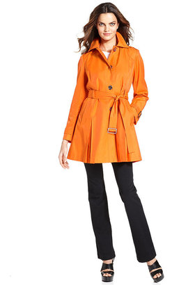 MICHAEL Michael Kors Coat, Hooded Belted Trench