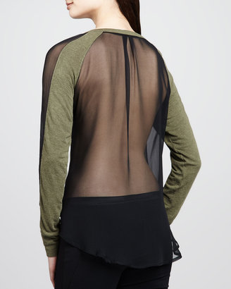 Elizabeth and James Sloane Sheer-Back Top