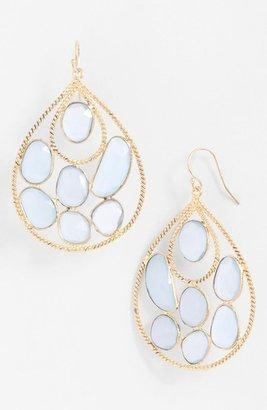 Nunu Designs Cluster Stone Teardrop Earrings
