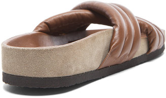 Isabel Marant Holden Leather Sandals in Brown