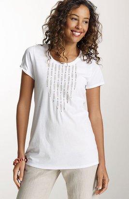 J. Jill Beaded embroidered tee